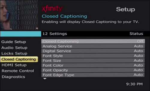 Turn Closed Captioning On and Off on Your HD TV Adapter