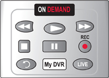 Image of control buttons on DVR remote control