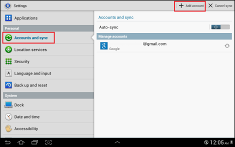 email settings on galaxy s5