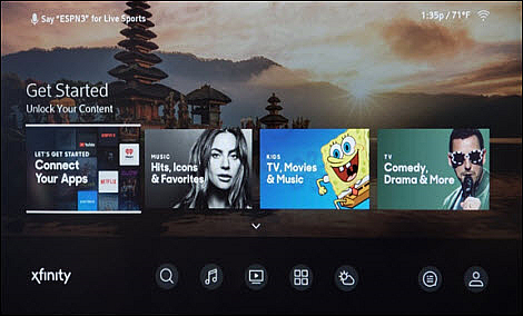 A home screen for the TV Box is displayed