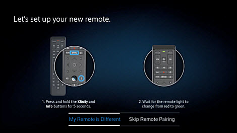 Follow the instructions to set up your new remote.