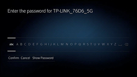 Enter the password for your WiFi manually.