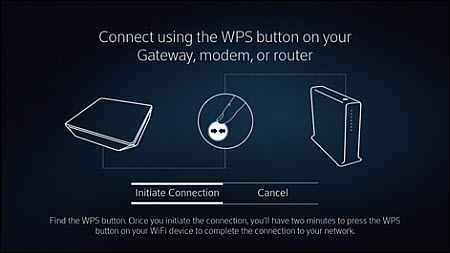 You can press the WPS button to connect a device to your Internet.