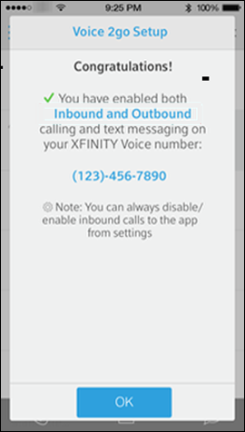 Activate or Disable Voice2Go with the Xfinity Connect App