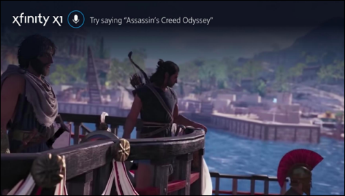 Screenshot of Assassin's Creed Odyssey displayed on Xfinity X1