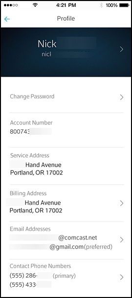 Xfinity My Account App