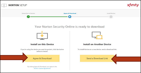 Download and install norton security online on your pc.