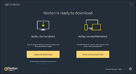 Choose to install Norton locally or on another device