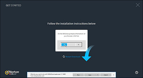 Choose Run when the installation pop-up appears