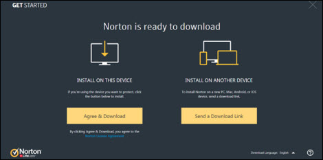 Install on this Device option on the left; Install on Another Device option on the right.