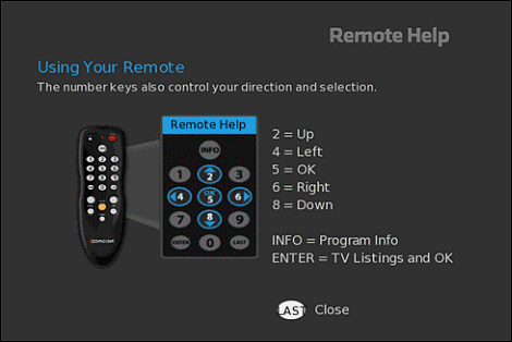 use your tv adapter on screen guide rh xfinity com Digital Adapter DTA Remote Xfinity Digital Adapter Remote Codes