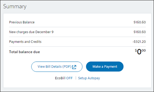 How to View Your Bill Online - My Account Help