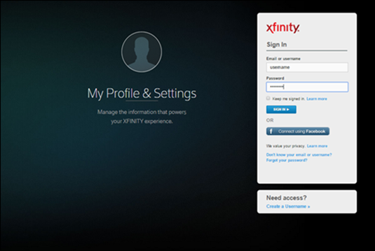Connect Your Xfinity Username With Your X1 TV Box Apps
