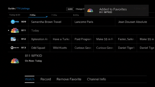 Xfinity Comcast Tv Listings