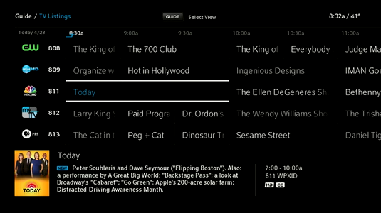 add a favorite program on your x1 guide rh xfinity com xfinity comcast tv guide Comcast TV Guide 2007