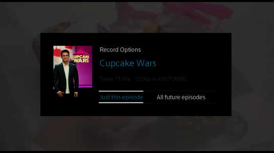 Recording Options with prompt to record Just this episode