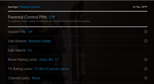 Set Up Your Locks PIN and Turn Parental Controls On and Off for X1