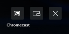 Chromecast with Casting button on left