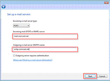 Use Windows Mail for Your Comcast Email Account
