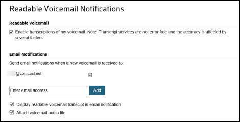 Get Voicemail Alerts by Email with Xfinity Connect