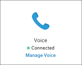 Manage Voice tile.
