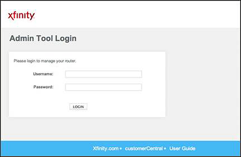 Admin Tool Login screen with fields for Username and Password in the center.