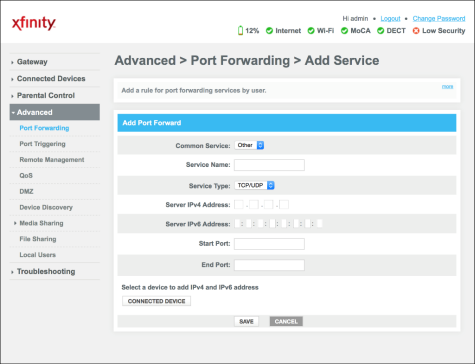 tunngle how to set up portforwarding