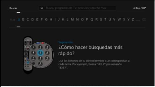 Pantalla de búsqueda proporcionada en español.