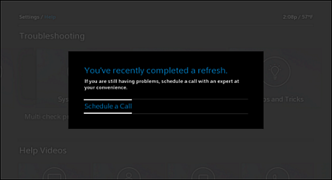 You've recently completed a refresh screen. Schedule a Call option is at left.