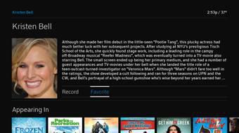 Se muestra el contenido biográfico de una actriz.