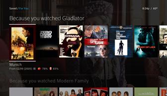 La sección For You también presenta recomendaciones personalizadas basadas en la programación que ya hayas visto.