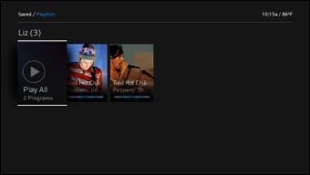 X1 Playlists screen.