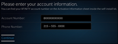 Additional Information screen with fields for Account Number and Phone Number.