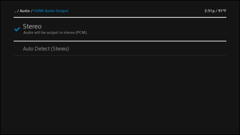Manage Audio Mode in the X1 Guide