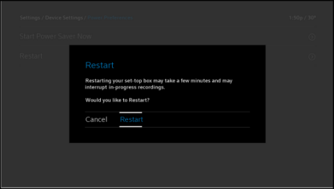 reboot your x1 tv box Xfinity TV Cable Box