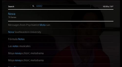 """Se muestran los resultados de la búsqueda para el ingreso en el teclado numérico """"6682""""."""