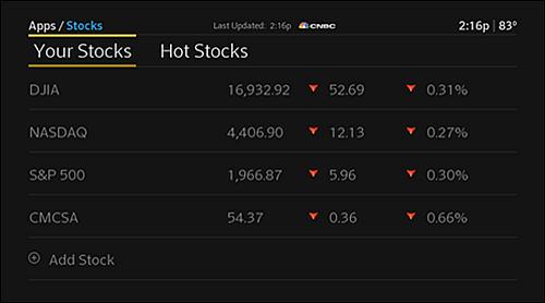 The X1 Stocks app.
