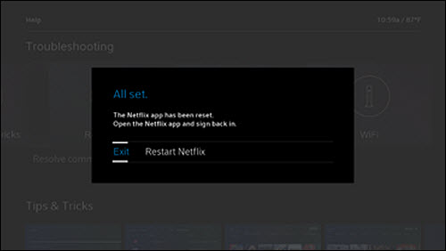 What to do if the Netflix App on Xfinity X1 is Frozen