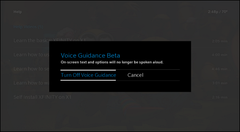 What is the X1 Talking Guide Voice Guidance Feature?