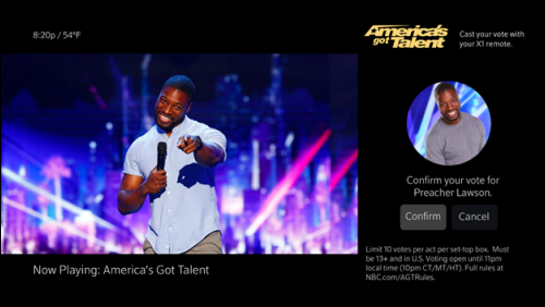 After selecting a contestant, the Confirm option is below their picture, on the right side.