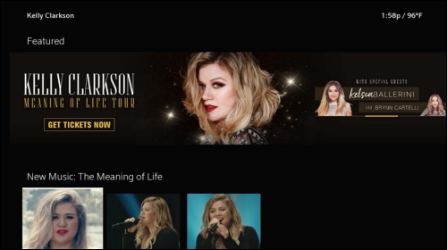 Kelly Clarkson tour page