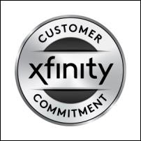 Xfinity customer commitment logo