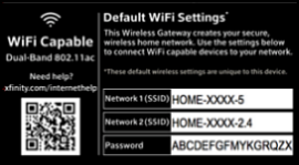 Sample WiFi information panel