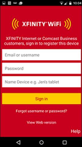 Xfinity Home Page App