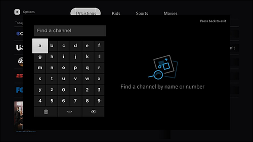 Find a Channel with Search Bar.