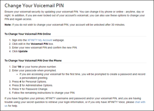 Instructions on how to Change Your Voicemail PIN