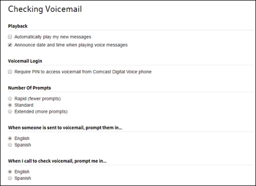 Instructions for Checking Voicemail