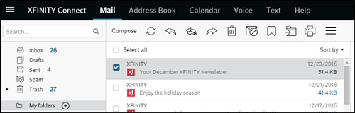 Create Personal Folders and Move an Email to a Folder - Xfinity