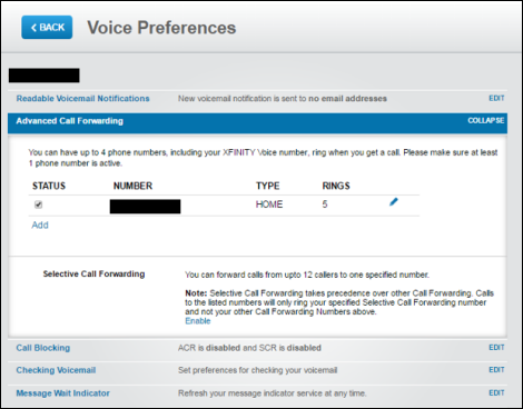Comcast Voicemail Number Of Rings