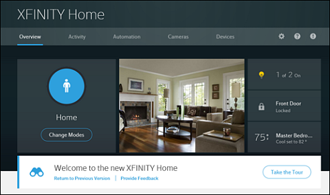 New XFINITY Home Subscriber Portal.